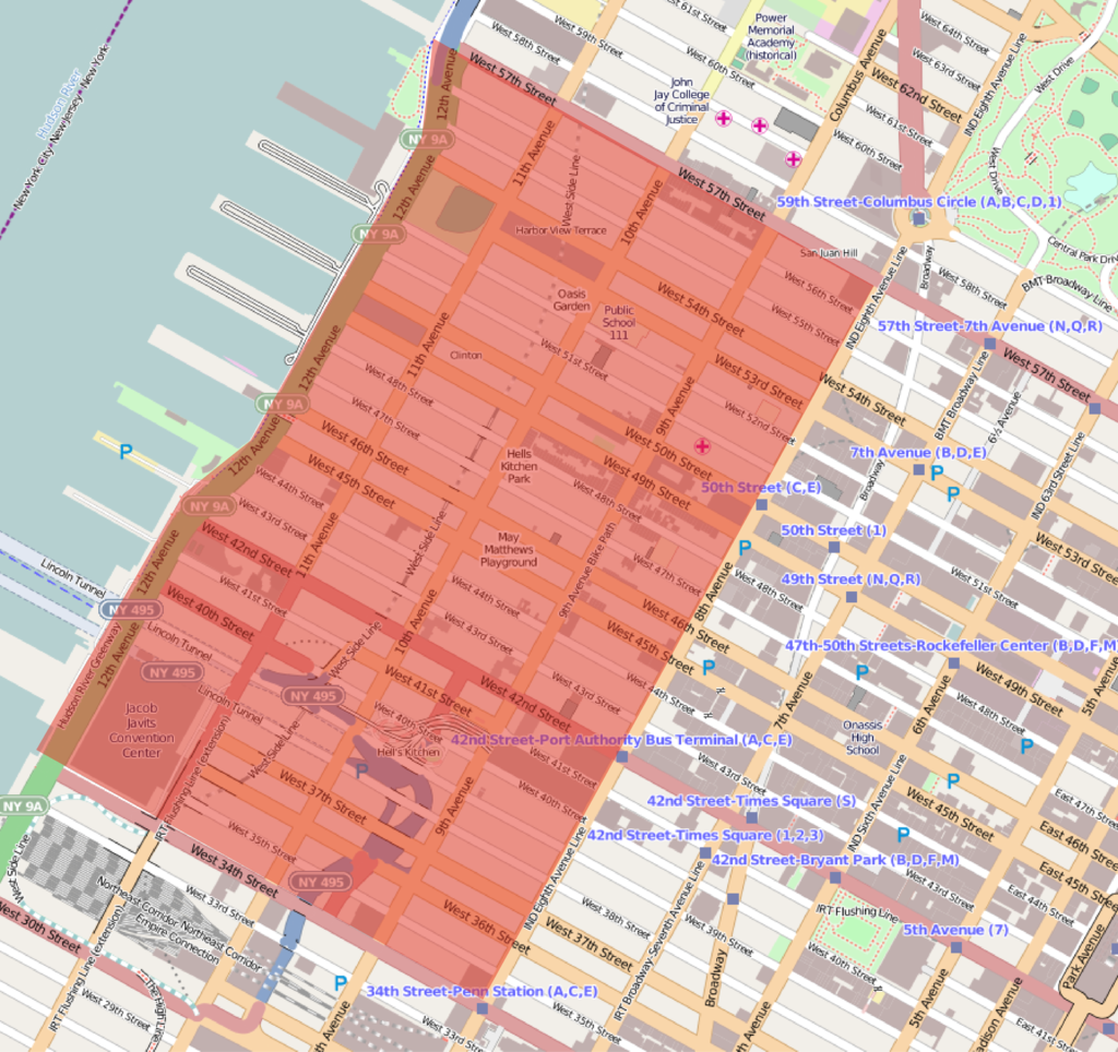 New York City Maps And Neighborhood Guide Hotels Near Times - New york map location